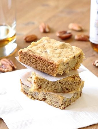 Brown Butter and Bourbon Blondies