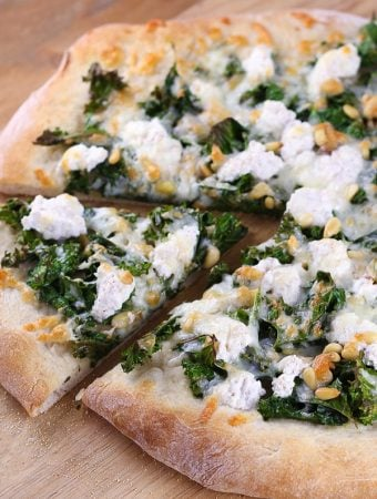 Kale, Pine Nut and Ricotta Pizza