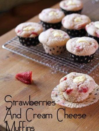Strawberries and Cream Cheese Muffins