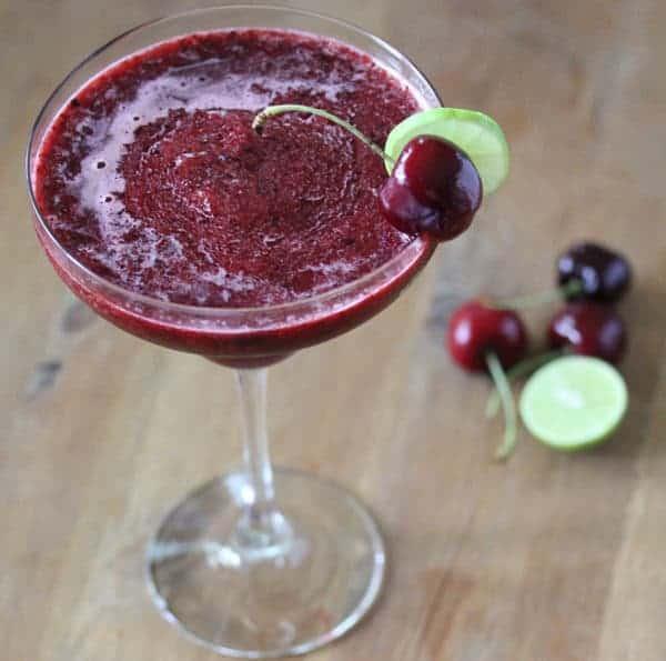 Frozen Cherry Limeade | sweetpeasandsaffron.com