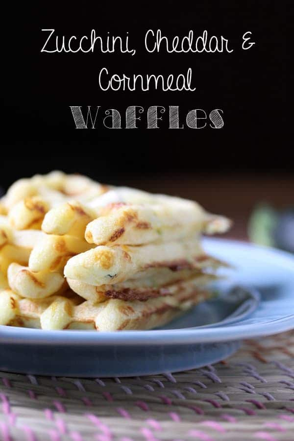 Zucchini, Cheddar & Cornmeal Waffles | sweetpeasandsaffron.com