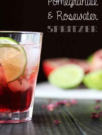 Pomegranate and Rosewater Spritzers