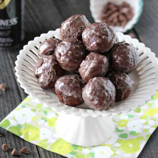 Guinness & Chocolate Glazed Donut Holes