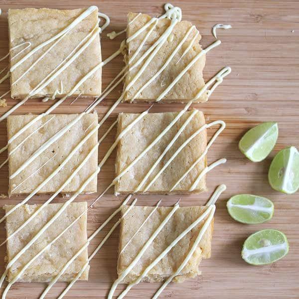 Key Lime Blondies | sweetpeasandsaffron