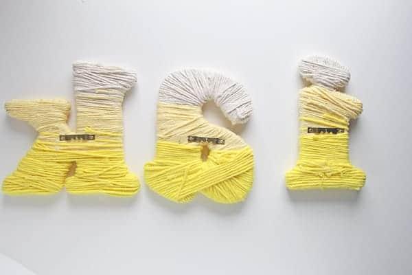 yarn letters back