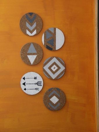 DIY Southwestern Cork Board Wall Art