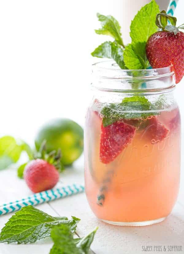 Strawberry Rhubarb Rosé Sangria