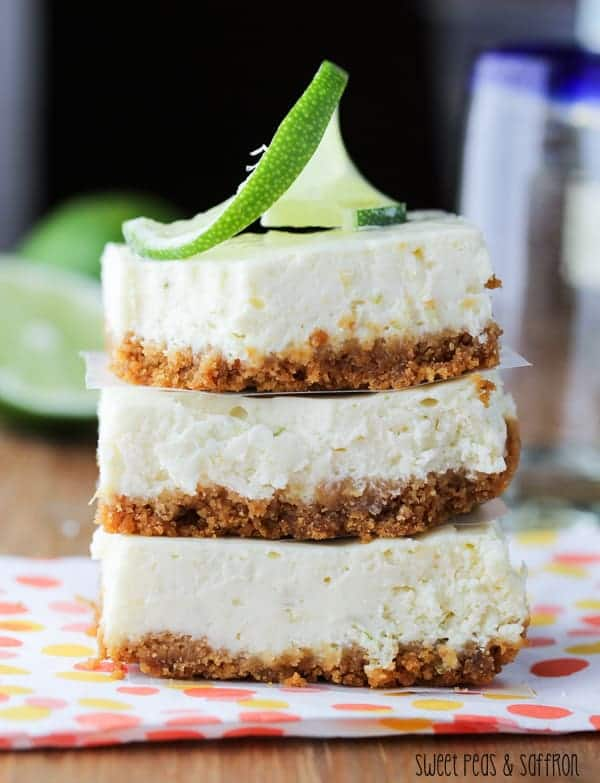 Tequila-Lime Cheesecake Bars | sweetpeasandsaffron.com