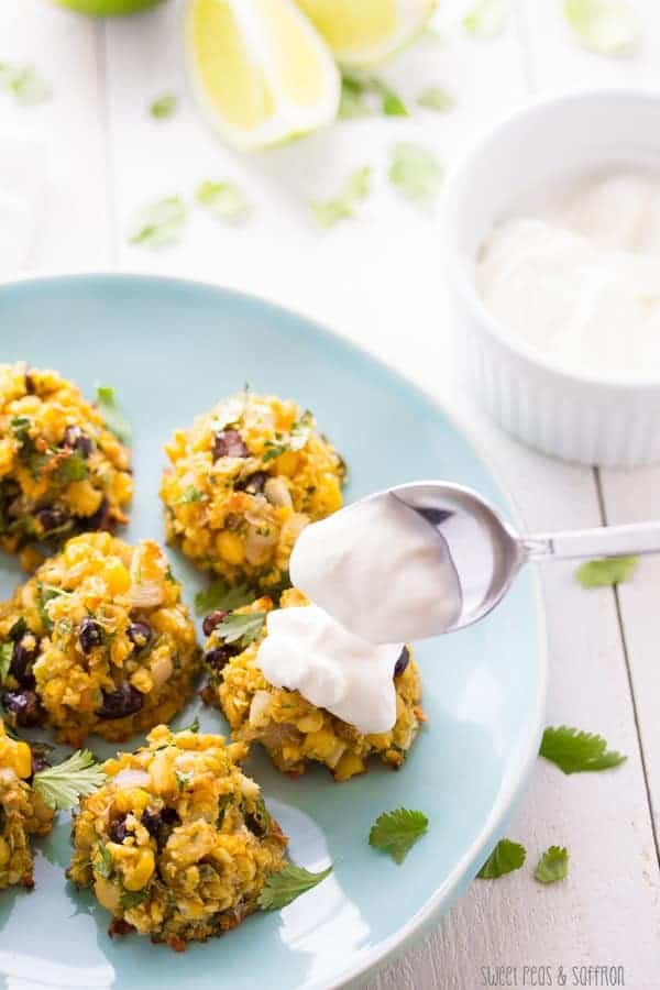 Corn and Black Bean Baked Falafels