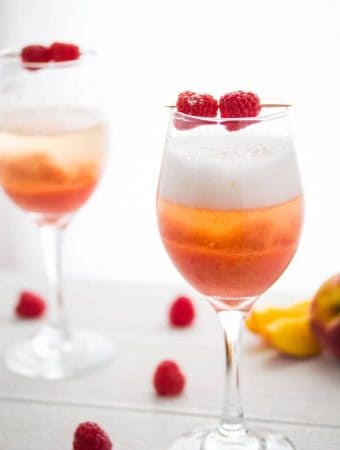 Peach Raspberry Bellinis (Frozen)