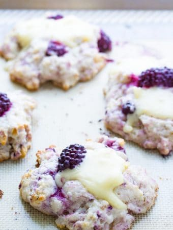 Blackberry Scones with Walnuts & Brie
