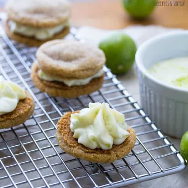 Key Lime Pie Sandwich Cookies: key lime cream cheese filling is ...