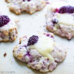four blackberry scones with walnuts and brie