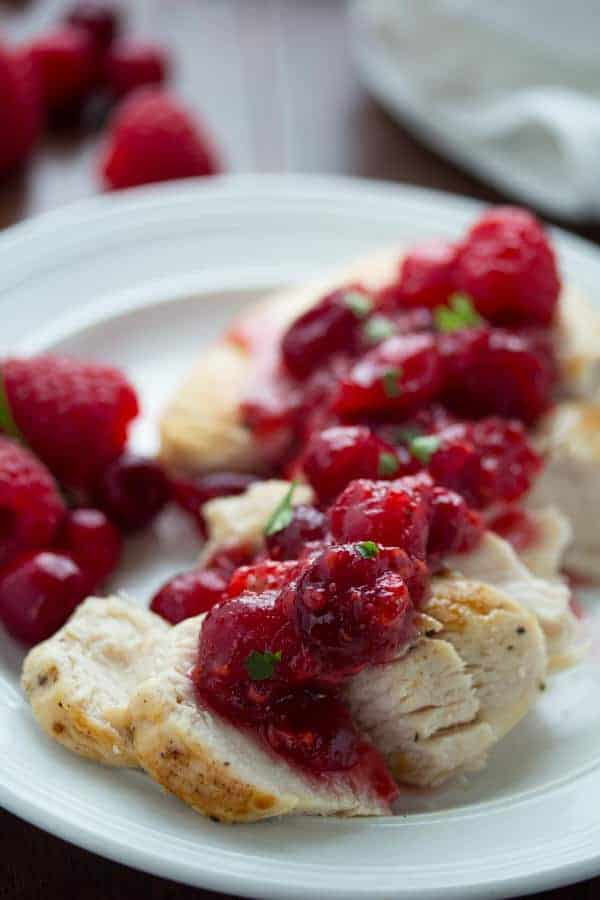 Raspberry-Balsamic Cranberry Sauce