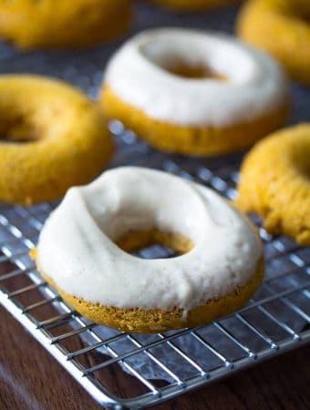Baked Pumpkin Donuts with Cream Cheese Frosting