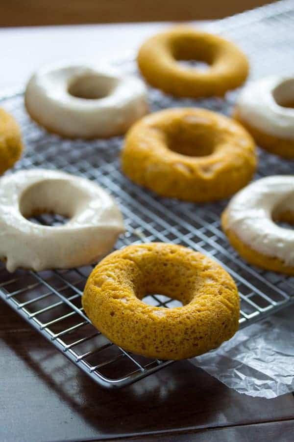 Pumpkin Donuts with Maple-Cinnamon Cream Cheese Frosting | Sweet Peas ...