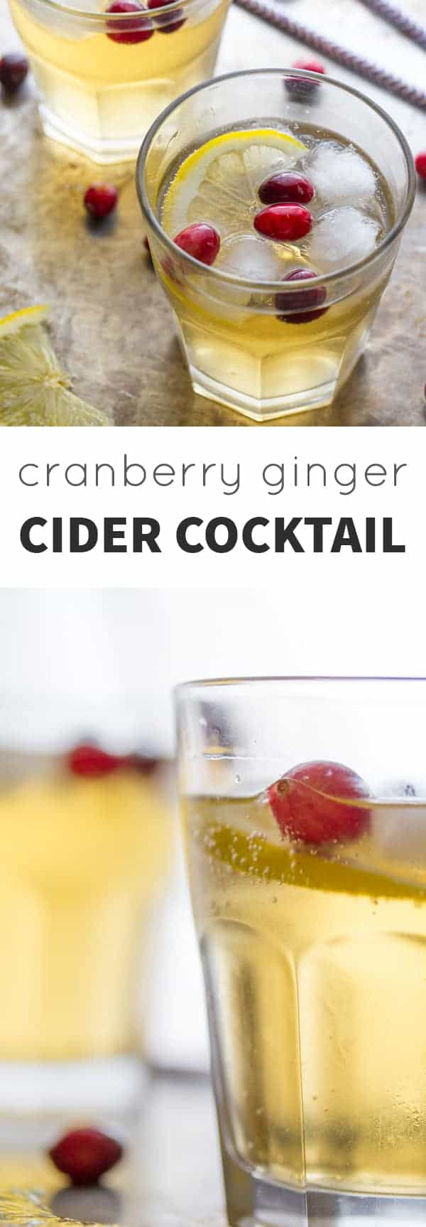 Cranberry Ginger Cider Cocktail @sweetpeasaffron