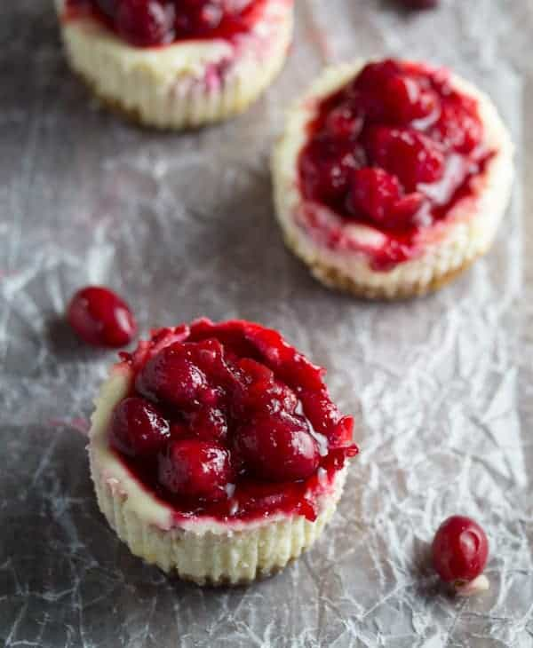 Leftover Cranberry Sauce Mini Cheesecake Recipe