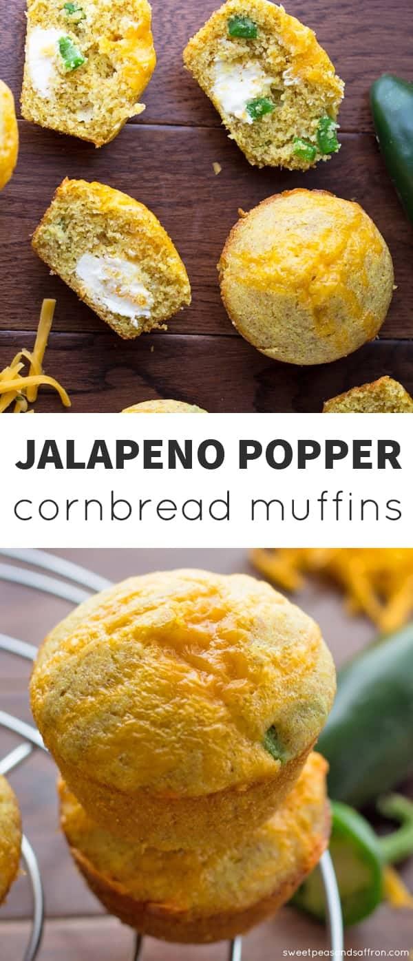 Jalapeño Popper Cornbread Muffins @sweetpeasaffron