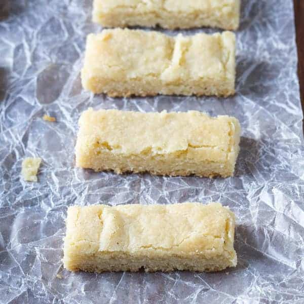 row of shortbread cookies