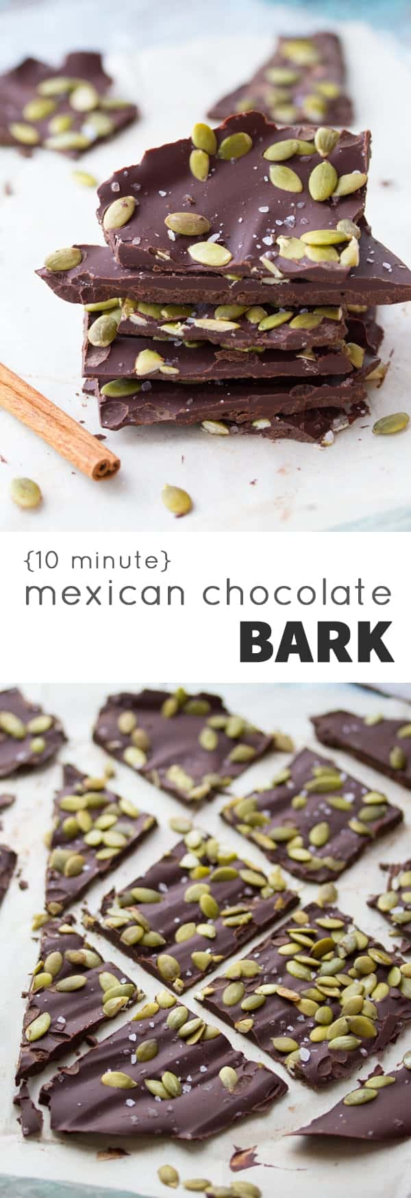 Mexican Chocolate Bark with Sea Salt and Pepitas