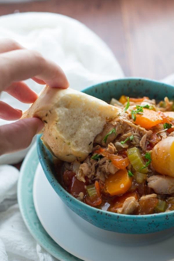 Instant Pot Tuscan Chicken Stew Super Popular Sweet Peas Saffron
