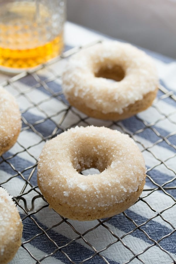 Bourbon-Sugared French Toast Donuts