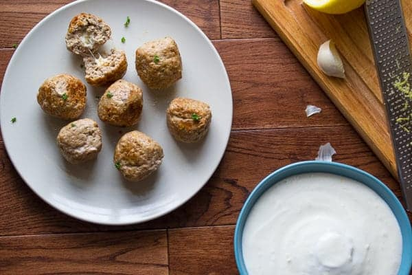 Feta-Stuffed Greek Turkey Meatballs Recipe
