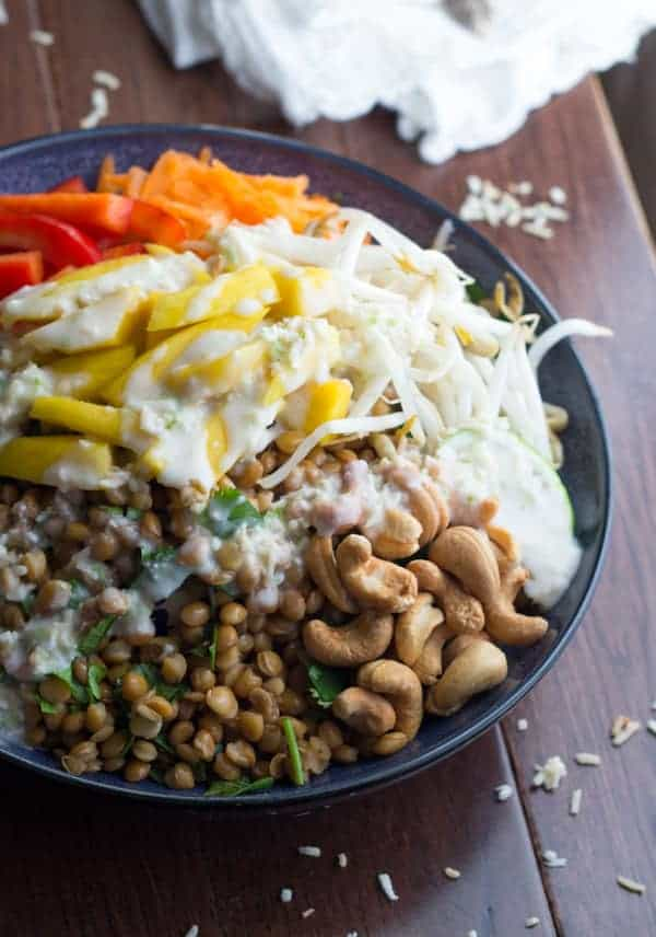 Tropical Lentil Bowls with Mango and a Coconut-Lime Dressing-4
