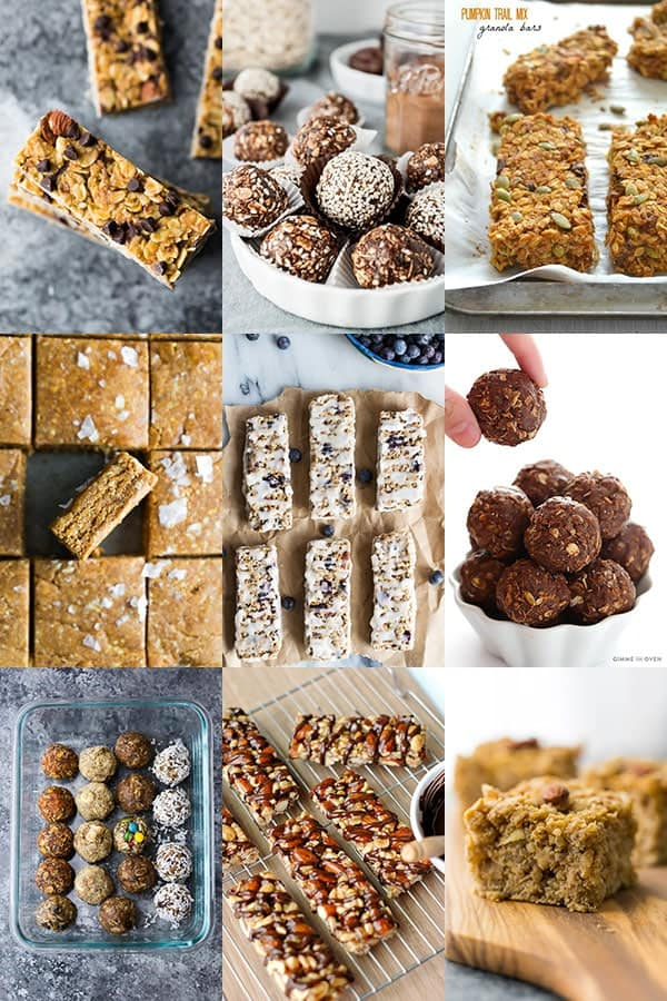 54 Healthy Lunch Ideas For Work- granola bars and energy bites