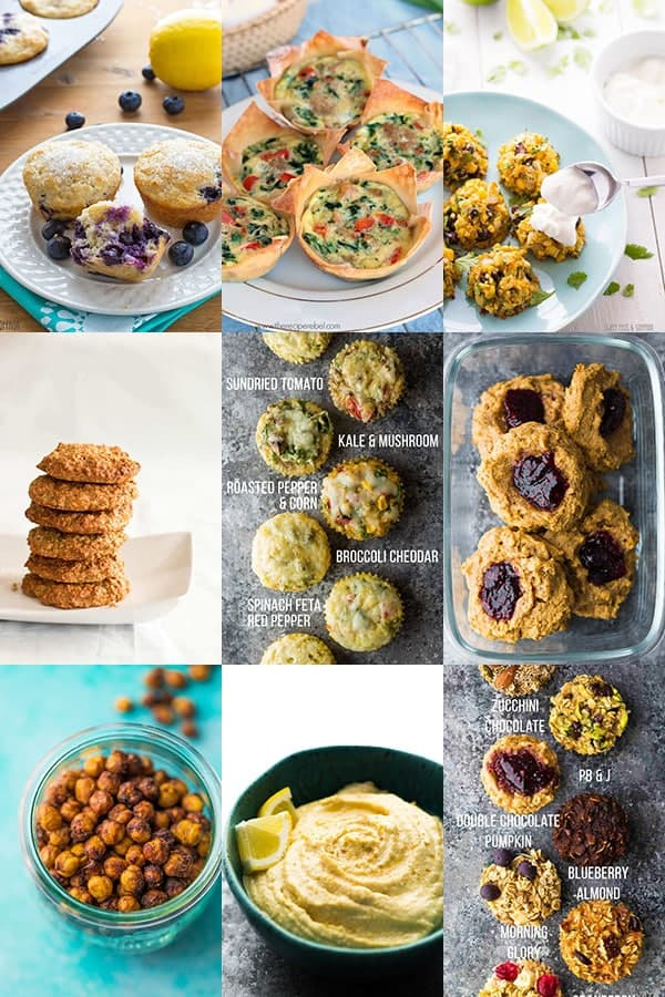 54 Healthy Lunch Ideas For Work- muffins and snacks