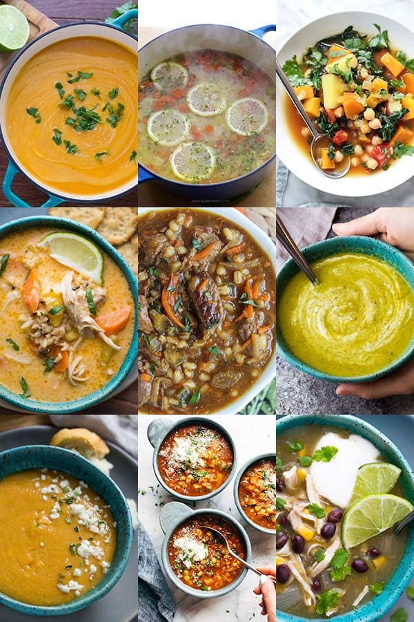 54 Healthy Lunch Ideas For Work- soups