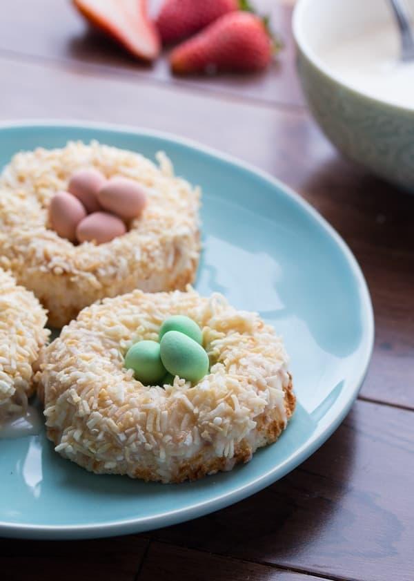 Lemon & Coconut Angel Food Donuts-4
