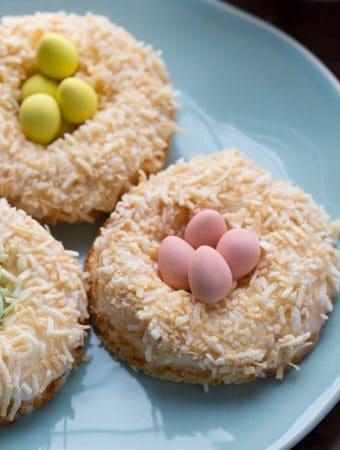 Lemon Coconut Angel Food Cake Donuts
