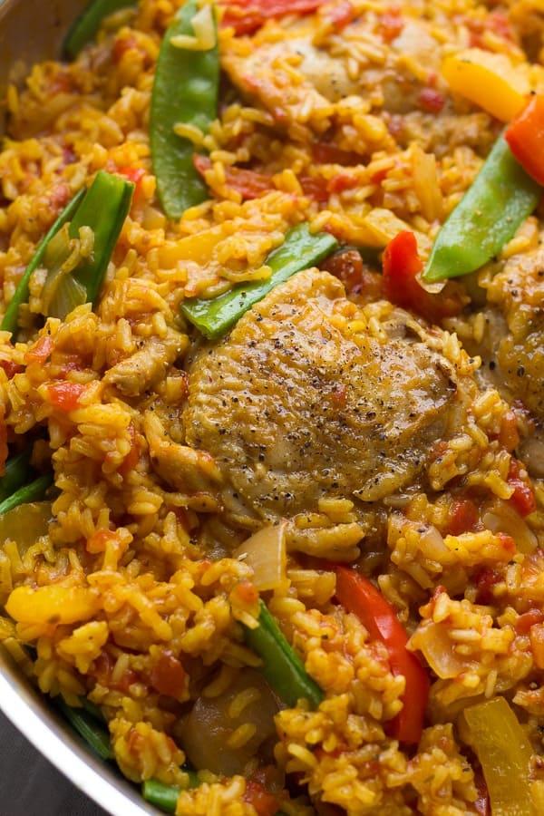 Spanish Chicken and Rice Skillet