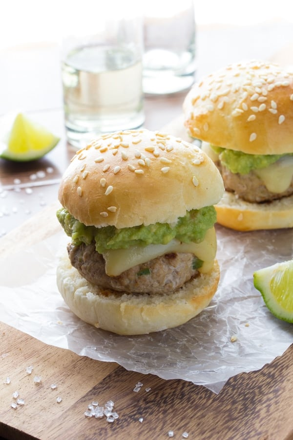 Tequila Turkey Sliders with Guacamole | sweetpeasandsaffron.com @sweetpeasaffron
