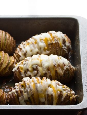 Accordion Potatoes (Hasselback Potatoes) With Avocado Cream Sauce