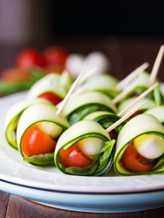 Grilled Caprese Zucchini Roll Ups