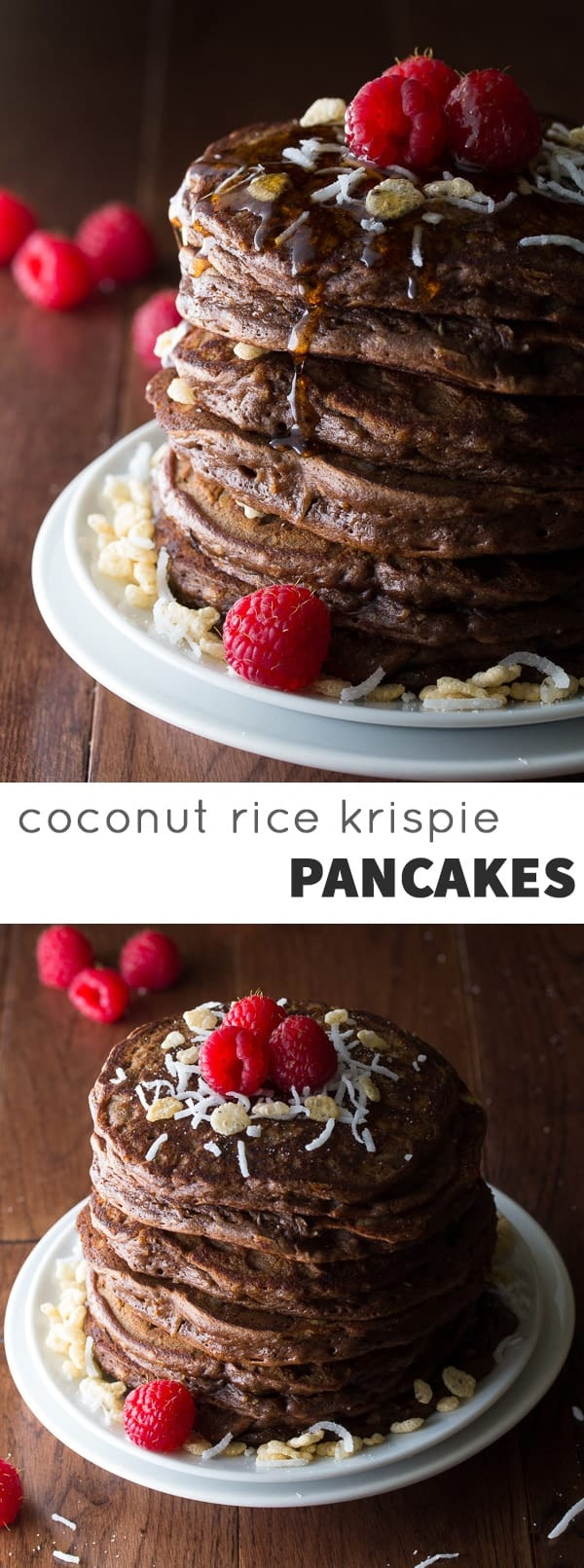 Coconut Chocolate Rice Krispie Pancakes