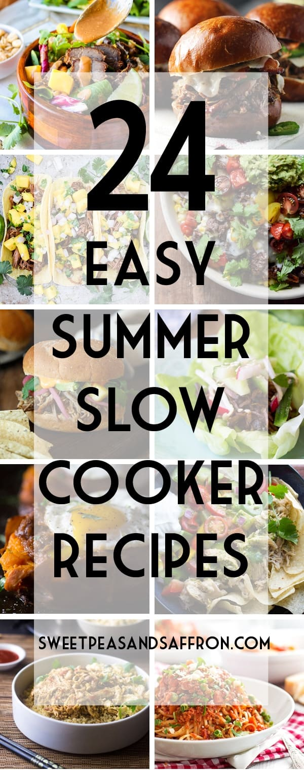 24 easy summer slow cooker recipes | sweetpeasandsaffron.com @sweetpeasaffron