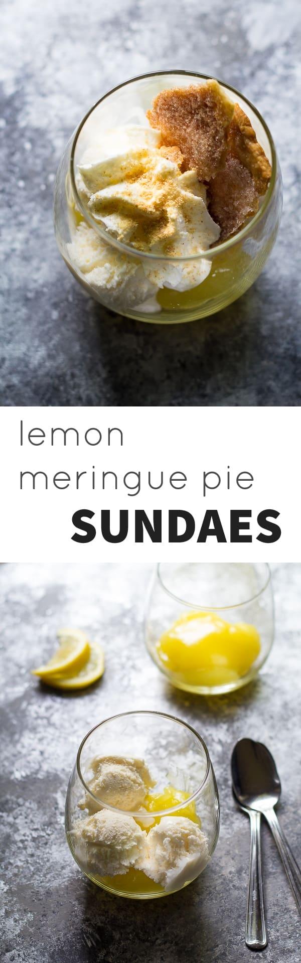 Lemon Curd Ice Cream Sundaes