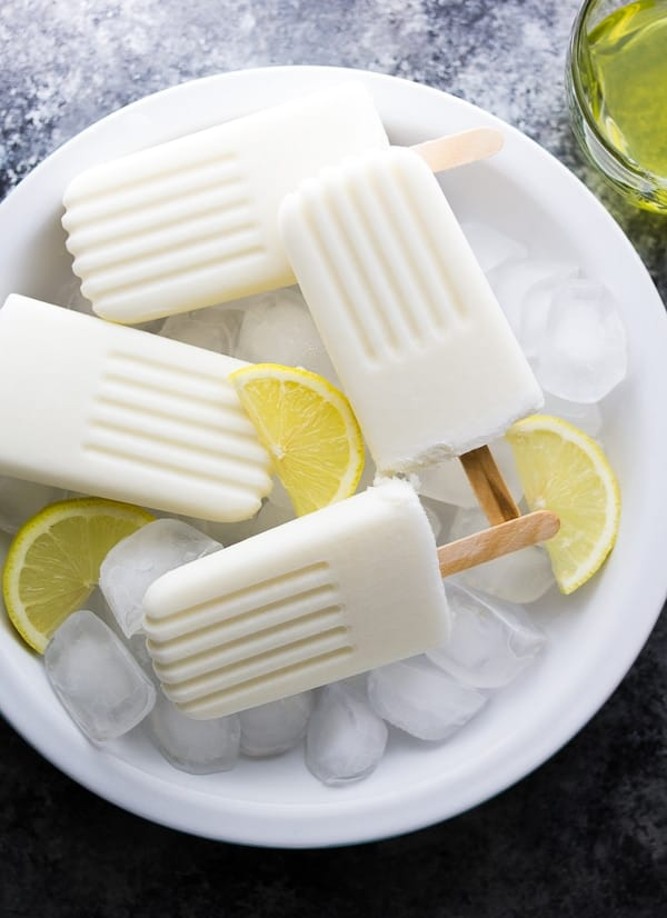 Creamy Limoncello Coconut Popsicles (4 ingredients!)
