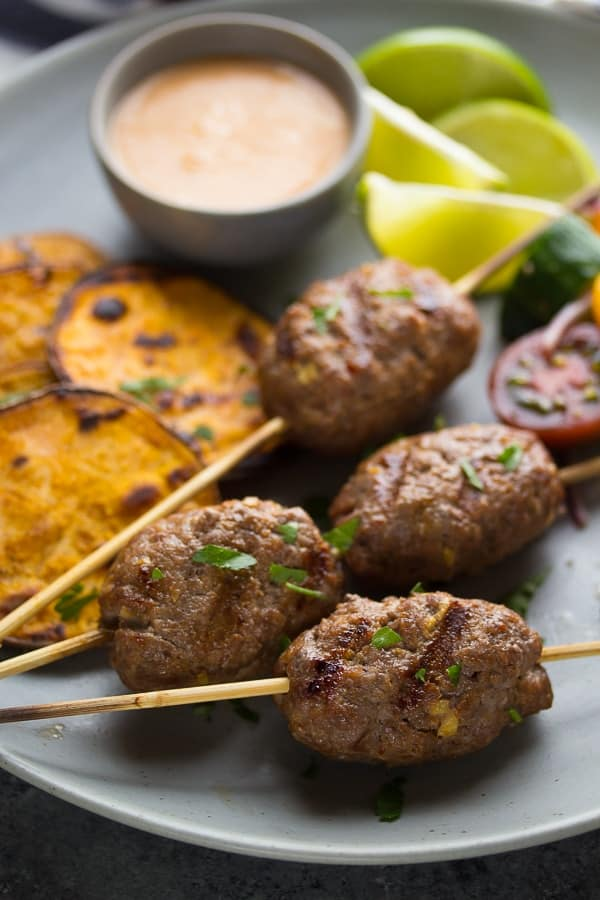Thai Beef Kofta Recipe with Coconut Sauce