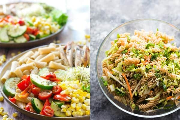 collage image of pasta healthy dinner ideas