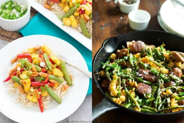 collage image of Stir fry dinner ideas