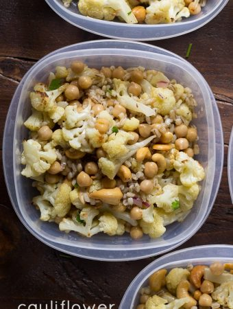 Cauliflower Cashew Lunch Bowls
