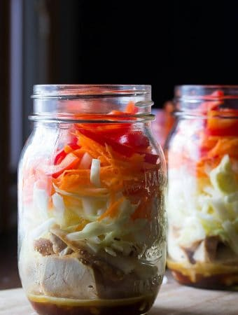 Asian Chicken Mason Jar Salads