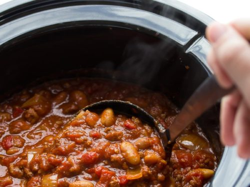 Slow Cooker Roasted Red Pepper Chili Sweetpeasandsaffron Com