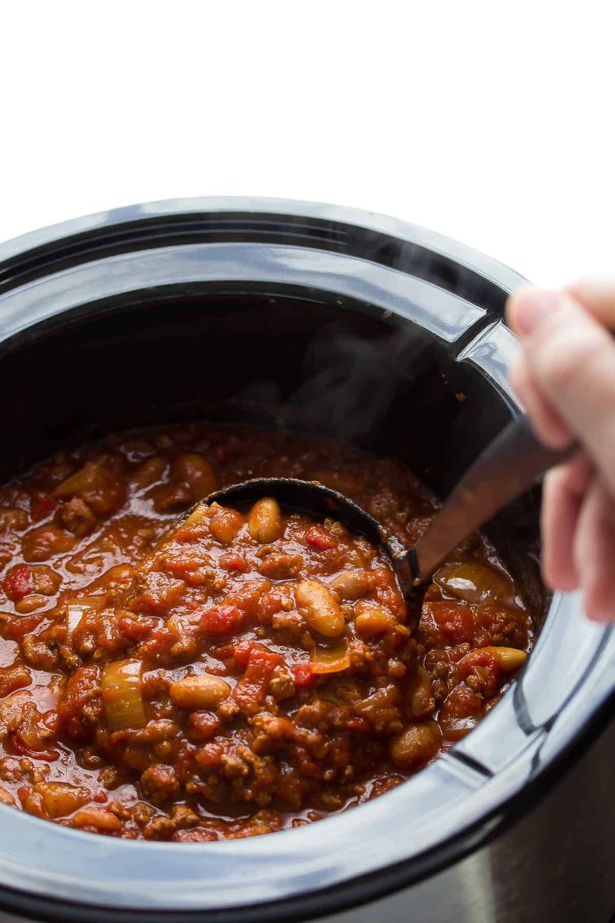 Slow Cooker Roasted Red Pepper Chili