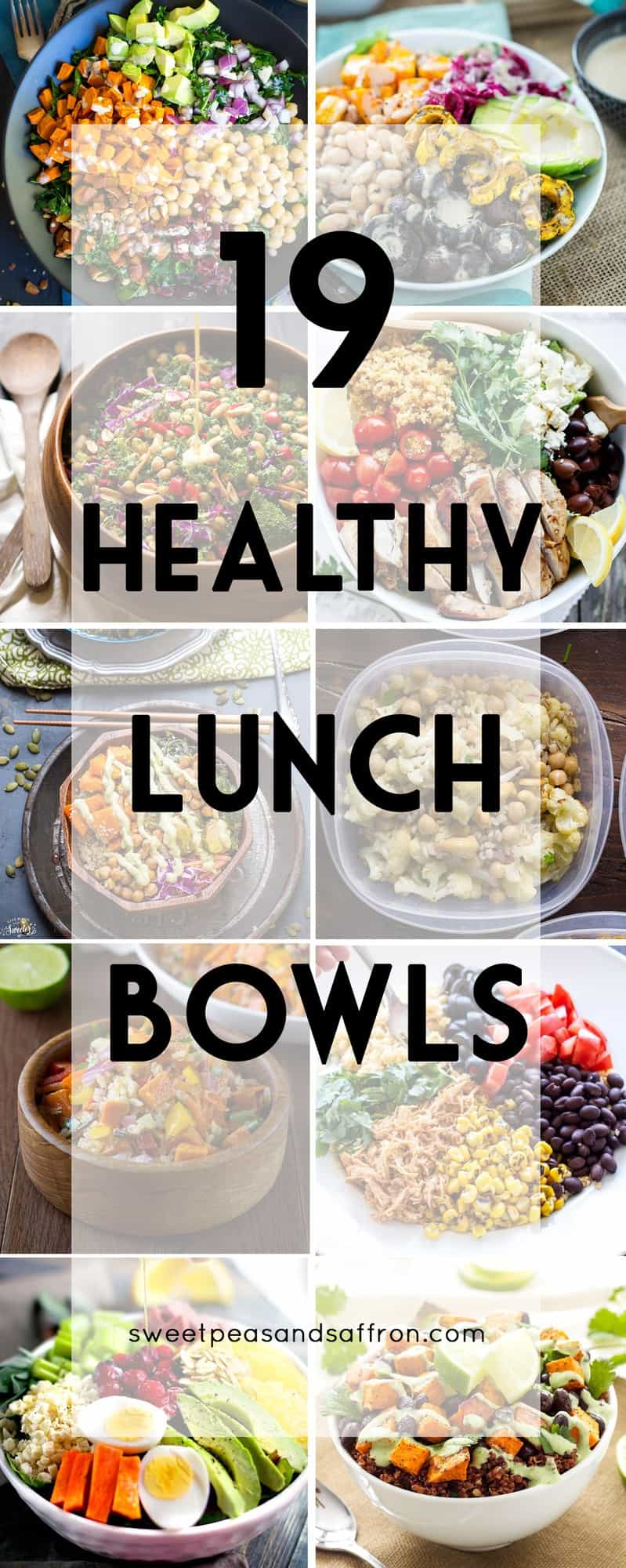 19 Healthy Make Ahead Lunch Bowls